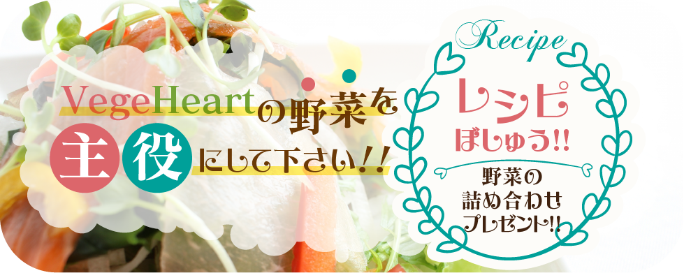 野菜のレシピ募集ページ