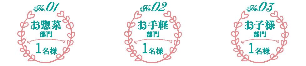 レシピ部門別入賞