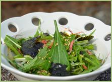 水菜と桜海老のナムル
